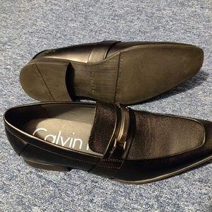 NWOT Calvin Klein Black Slip On Dress Shoes